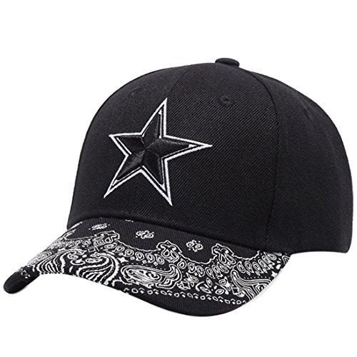 Belsen Damen Hip-Hop Cap Baseball Kappe Trucker Hat (Stern) Hip Hop Trucker Hats