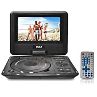 ‏‪9 Portable DVD CD Player - High Resolution TFT Swivel Angle Foldable Display Screen Built-in Rechargeable Battery USB/SD Card Readers 32GB Memory & Multimedia Support w/Remote Control - Pyle PDH9‬‏