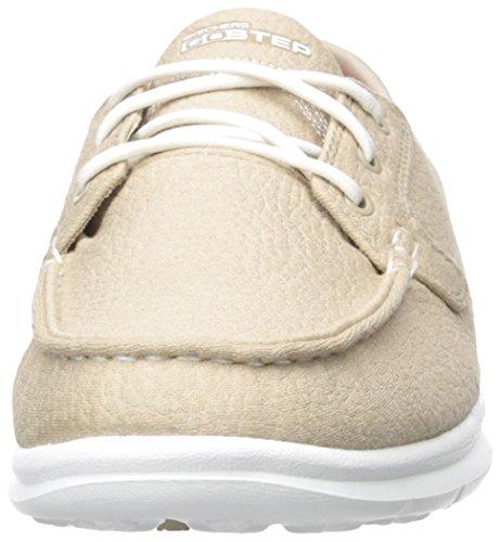 Skechers Go Step-riptide, Chaussures Bateau Femme Beige (nat)