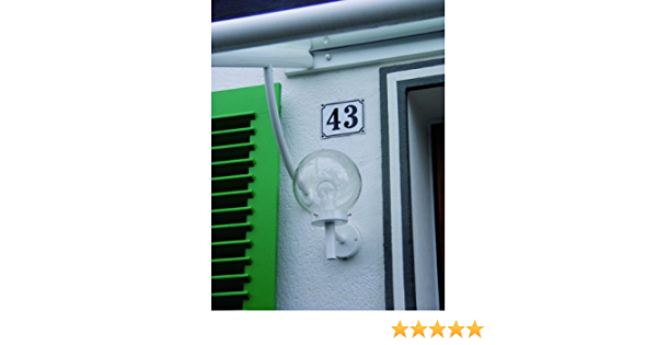 120x160mm LEMAX/® Hausnummernschild Hausnummer 49 Schrift: schwarz Grund: wei/ß