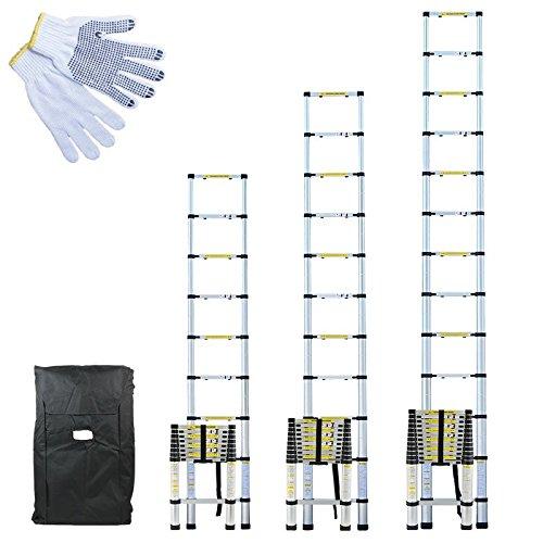 Linxor ® Pro 2m60, 3,20m o 3,80m de aluminio + estuche de transporte y guantes de manteniendo – Norma EN131