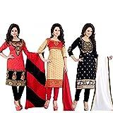 Jashvi Creation Women's Printed Unstitch...