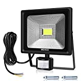 MEIKEE 30W Security Lights with Motion Sensor, Waterproof IP66 LED Floodlights, LED Sensor Outdoor Light, 75W HPS Lights Equivalent Replaced, 3000LM PIR Flood Light for Garden, Yard, Daylight White