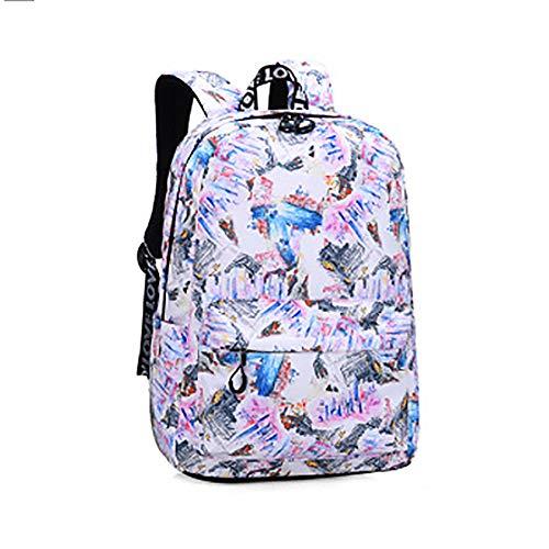 CYYAB Wanderrucksack für Kinder mit, Lässiger Kinderrucksack Wasserdicht/atmungsaktiv/verschleißfest/ausgleichsreduzierend für Verbundstoffe, Sport, Reise (28 * 11 * 39cm),White
