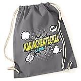 Turnbeutel - KANINCHENTECKEL Dackel Teckel Jagdhund Kaninchen Hase Dachshund - COMIC Cartoon Baumwoll Tasche Fun Siviwonder