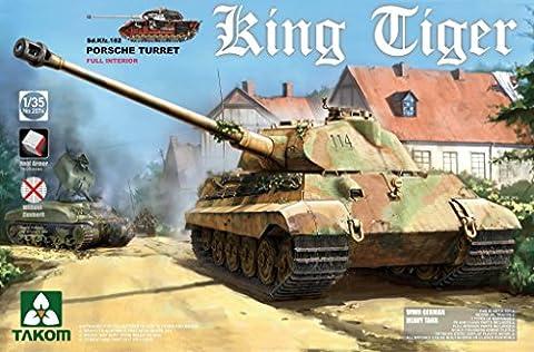 takom 2074–Modèle Kit WWII German Heavy Tank SD. KFZ. 182King Tiger Porsche Turret avec Interior