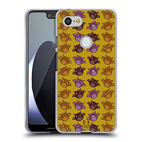 edermäuse Muster Halloween Kawaii Soft Gel Hülle für Google Pixel 3 XL ()