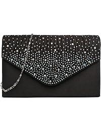 Miss Lulu Mesdames Diamante Soirée Sac d'embrayage sac de mariée sac sac à main