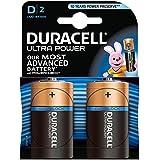 Duracell Ultra Power Alkaline Batterien mit Powercheck D (MX1300/LR20) 2er Pack