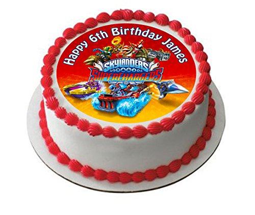 Skylanders superchargers Décoration pour gâteau personnalisée Glaçage Sucre Papier 19,1 cm cm