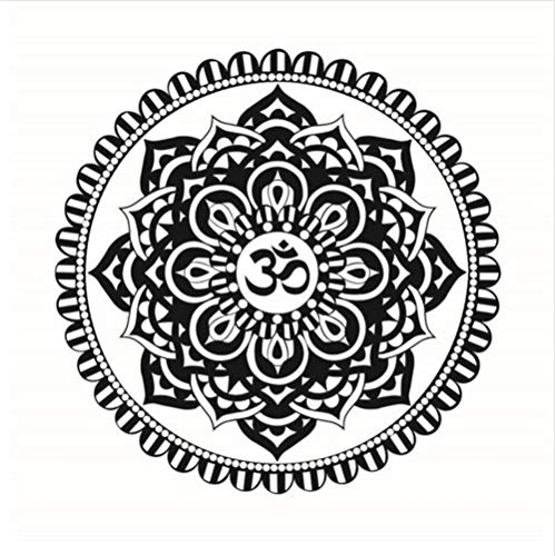 Mandalas Floral Design Wandaufkleber Indische Blume Abnehmbare Vinyl Kunst Aufkleber Diy Wasserdichte Wandbilder Dekoration 44 Cm X 44 Cm (Floral-design-tools)