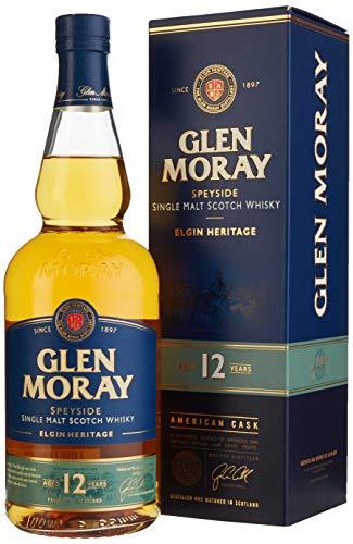 Glen Moray 12 Jahre Single Malt Whisky, Elgin Heritage, (1 x 0.7 l), in Geschenkverpackung