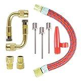 COSORO Inflator Pump Adapter Set Kit 9 Stück, Elbow Extender und Valve Converter Stücke und...