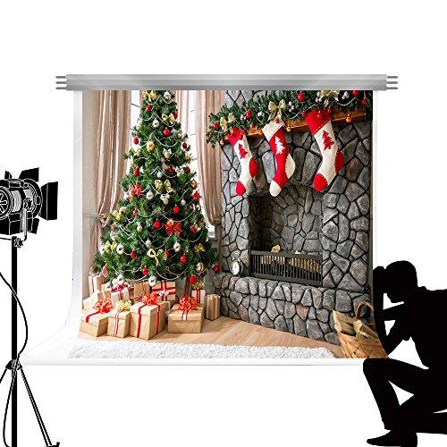 Kate Hintergrund Weihnachten 7x5ft/ 2.2x1.5m Foto Weihnachten Dekoration Weihnachtsbaum Requisiten Fotografie Hintergrund Fotostudio Weihnachts Kamin Requisiten (Für Weihnachts-requisiten Fotos)