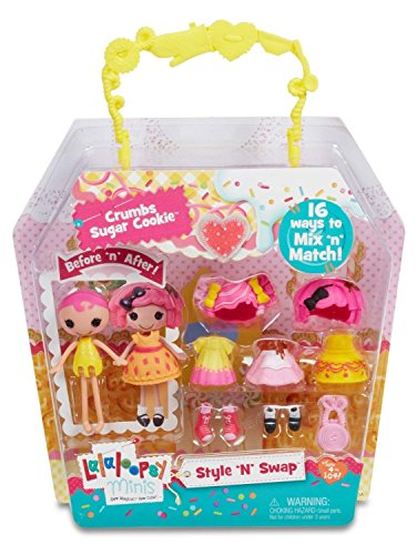 Lalaloopsy Minis - Mix 'n' Match - 7cm Modepuppe - Crumbs Sugar Cookie [UK Import] (Sugar Cookie Crumbs)