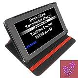 Tasche Strass Blume für Toshiba Encore WT10-A-102 Excite AT10-A-104 Book Style Schutz Hülle Buch rot