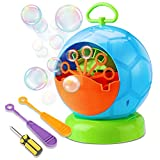 Fansteck Bubble Machine, Portable Bubble Blowing Machine, AA Battery Powered, Colorful Football Shape, High Output Automatic Bubble Blower, Ideal Birthday Toy for Kids Boys Girls Children