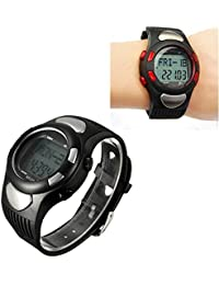 Premium Sports Fitness Watch Pedometer Pulse Heart Rate Calories Monitor