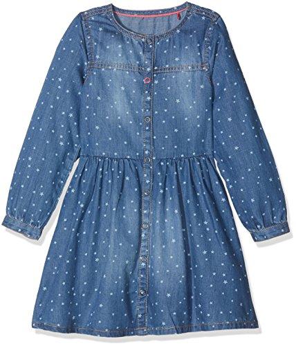 s.Oliver Mädchen Kleid Kurz, Blau (Blue Denim Non Stretch 56Y6), 104 (Herstellergröße: 104/REG)