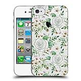 Head Case Designs Offizielle Julia Badeeva Weisse Rosen 1 Gemischte Muster 4 Soft Gel Hülle für iPhone 4 / iPhone 4S