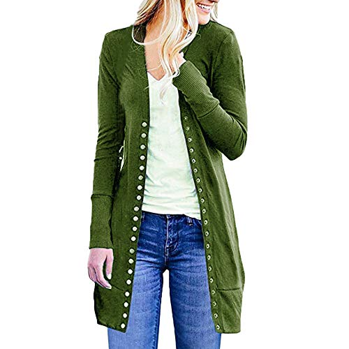 i-uend 2018 Ausverkauf Damen Herbst Winter Langarm Mantel Warmer Lange Mantel Öffnen Sie Vorne Button Down Strickjacke Cardigan Pullover Outwear Plus Lose ()