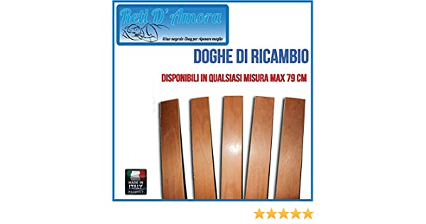 DOGHE PER RICAMBIO 79x6.8cm RETE RETI DA LETTO IN LEGNO DI FAGGIO ...