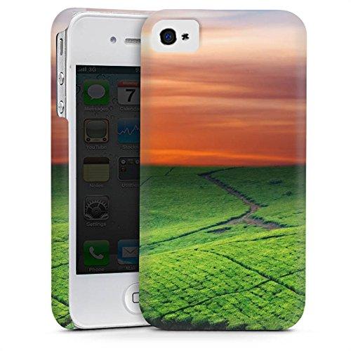 Apple iPhone 6 Housse Étui Silicone Coque Protection Paysage de prairies Coucher de soleil Irlande Cas Premium mat
