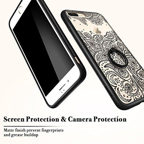 iPhone 7 Plus Hülle (5,5 Zoll), ESR® Hybrid Hülle Muster, iPhone 7 Plus Bumper Case [Weiche TPU Rahmen + Hart PC Rückdeckel] Schutzhülle für iPhone 7 Plus (Manjusaka) Ring-Paisley
