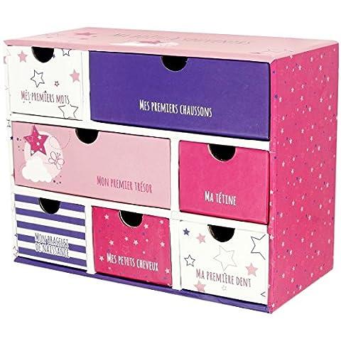 Promobo Packs Hat Erinnerungen Mini Kleiderschrank, Premiere Mal Etoiles rosa