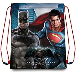 Kids Batman Vs Superman Saco Mochila, Color Azul