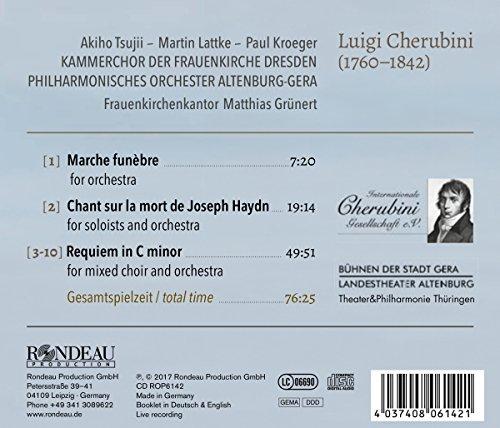 Cherubini : Oeuvres vocales sacrées. Tsujii, Lattke, Kroeger, Grünert.