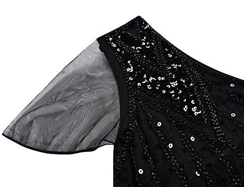 Kayamiya Damen 1920er Jahre Lange Abschlussball Kleid Perlen ...