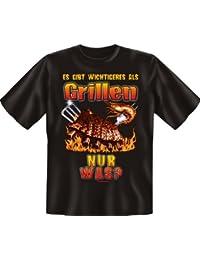 Indication en allemand es gibt wichtigeres als grillen-t-shirts et textiles xXL