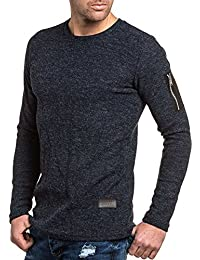 Celebry tees - Pullover navy maille homme poche zippée fashion