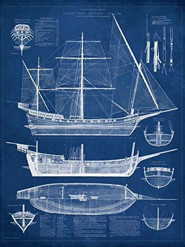 Artland Qualitätsbilder I Poster Kunstdruck Bilder 60 x 80 cm Fahrzeuge Boote Schiffe Illustration...