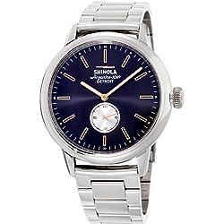 Shinola Reloj de Hombre Cuarzo Correa y Caja de Acero dial Azul 20090078