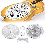 Tbest Gitarre Spider Bridge Saitenhalter, Dobro Guitar Parts Screens Saitenhalter Spider Bridge Resonator Cones Schallloch für Dobro Resonator Guitar Ersatzteil