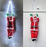 Cudek Products XXL Premium Weihnachtsmann AUF LED Leiter 250 cm hoch~120 LED´S~Wetterfest~WEIHNACHTSDEKO~Santa~DEKO~