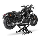 ConStands XL Montageständer Motorrad Hebebühne Scherenheber Hydraulik-Lift (schwarz-schwarz)