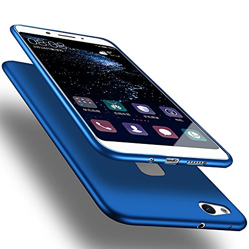 X-level Huawei P10 Lite Hülle, [Guadian Serie] Soft Flex Silikon Premium TPU Echtes Telefongefühl Handyhülle Schutzhülle für Huawei P10 Lite Case Cover [Blau]