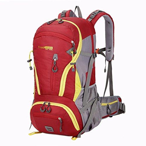 Outdoor Sport Rucksack Bergsteigen Tasche 45L Große Kapazität Camping Reise Tasche Red