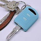 Soft Case Schutz Hülle Auto Schlüssel Opel Combo C Corsa C Meriva A Tigra TwinTop/Farbe: Fluoreszierend Blau (leuchtet im Dunkeln!)