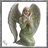 Figur / Statue, Friedens-Engel mit Taube, Frieden-Figur