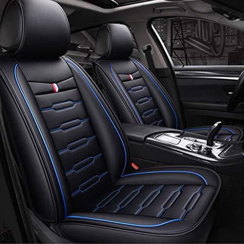 Hinten Haken-pad (DaPeng Autositzbezug, Vorne und Hinten, 5 Sitzplätze, Kompletter Satz Universal-Airbag-Sitzbezüge aus Leder Mit Four Seasons Pad-Funktion (Farbe : Blau))
