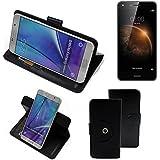 360° Funda Smartphone para Huawei Y6 II Compact, negro   Función de stand Caso Monedero BookStyle mejor precio, mejor funcionamiento - K-S-Trade