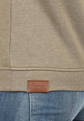 DESIRES Vicky Zip-Hood Damen Sweatjacke Kapuzenjacke Hoodie Mit Kapuze Fleece-Innenseite Und Cross-Over-Kragen, Größe:XS, Farbe:Sand Melange (8409) - 5