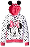 Disney Girls' Big Girls' Minnie Hoodie with Bow and Ear, White, Large/12/14