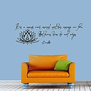 Sticker mural avec citation de Bouddha Spiderman pour un son propre compte en vinyle style Yoga Décoration murale Décalcomanies murales