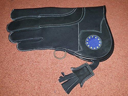 Cetrería guante Reino Unido Logo Triple capa de piel de nobuck 12pulgadas de largo 3capas tamaño (), Extra Large (XL)