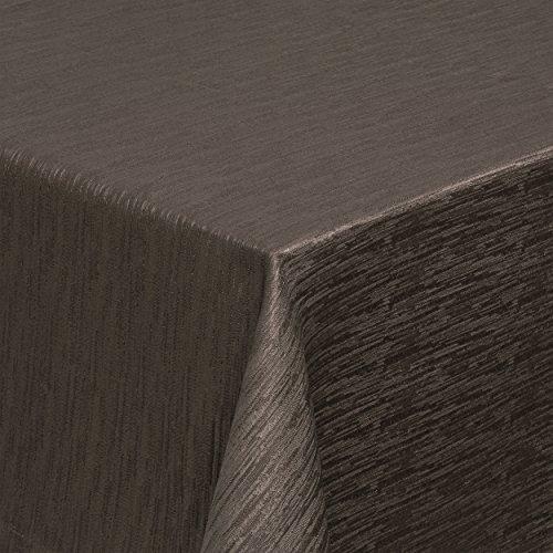 Tischdecke braun 140x190 cm oval gestreift